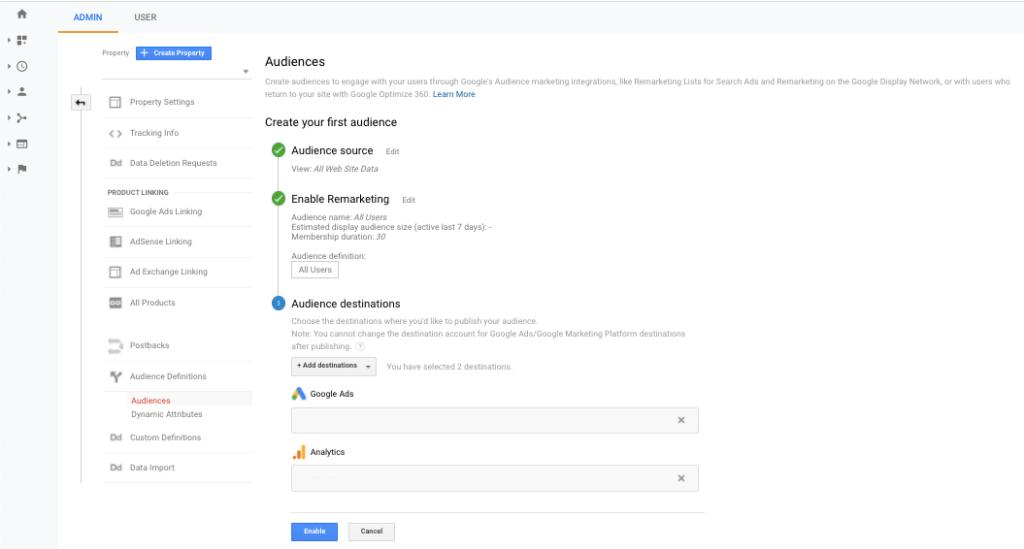 Cum realizezi audiențe în Google Analytics 4