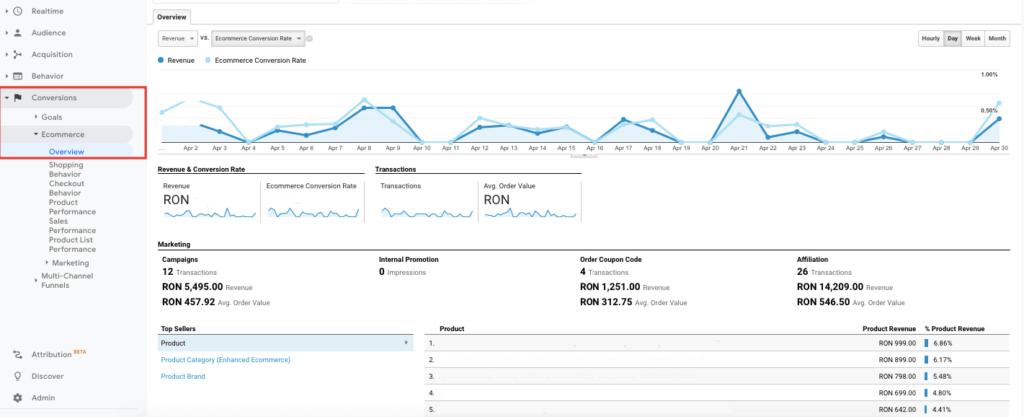 Rapoarte Google Analytics 7