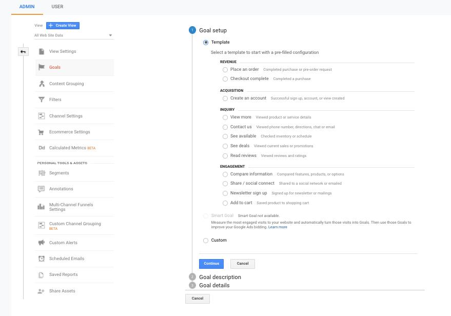Cum să setezi goal-uri în Google Analytics 3