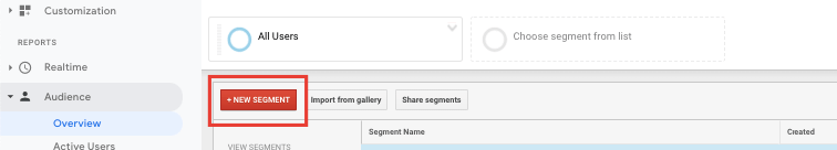 Segmentează audiența în Google Analytics 4