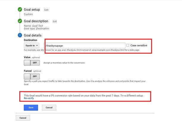 Cum să setezi goal-uri în Google Analytics 5
