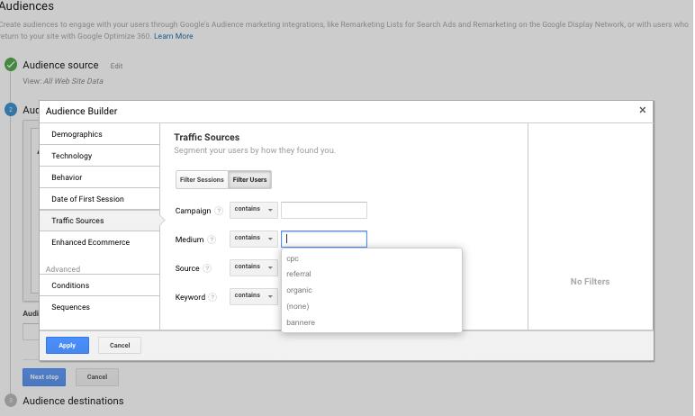Liste de remarketing din Google Analytics 8
