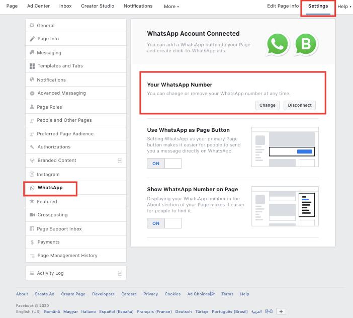 Conectează contul de WhatsApp cu pagina de Facebook 3