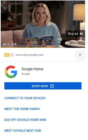 Youtube Ads cu sitelinks 6